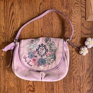 Juicy Couture pink velvet shoulder bag